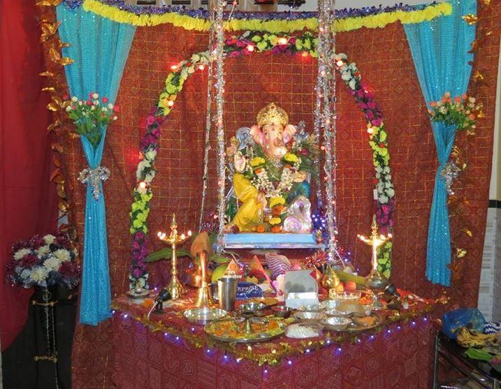 Simple Home Decoration For Ganpati Festival Ideasidea