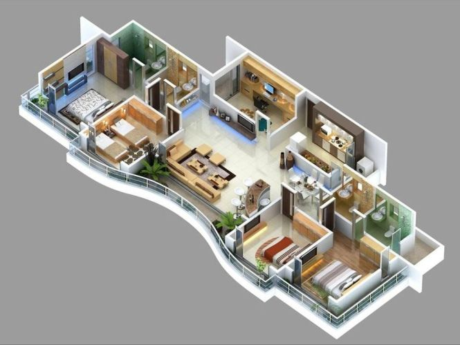 25 Best Ideas About 4 Bedroom Apartments On Pinterest House Plans Sims 3 Houses And Layout