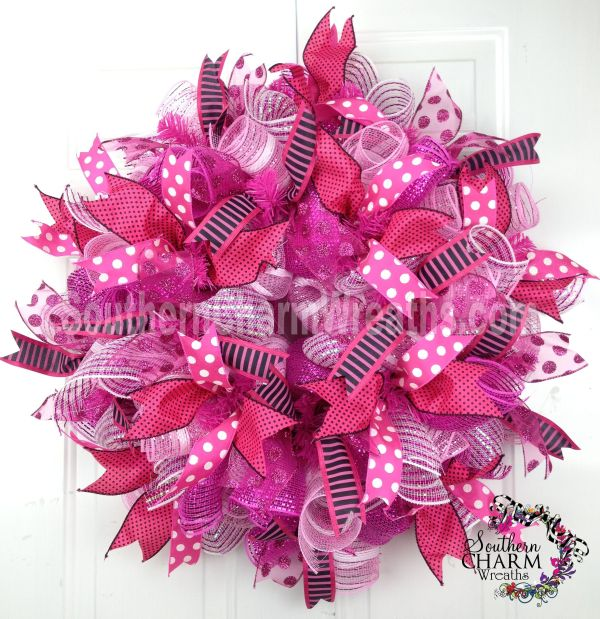 Mesh Ribbon Wreaths Fall Deco