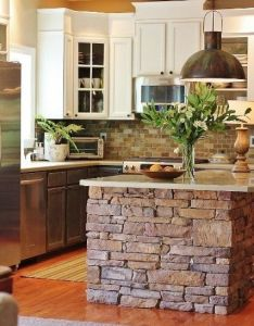 rustic home decor ideas you can build yourself also stone kitchen rh pinterest