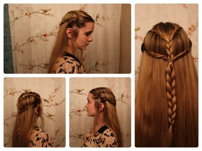 "Braids Inspired By ""The Hobbit's"" Tauriel LaDollyVita33 Via"