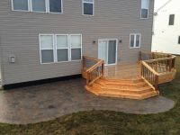 Cedar deck and brick paver patio.   Decks - Our projects ...