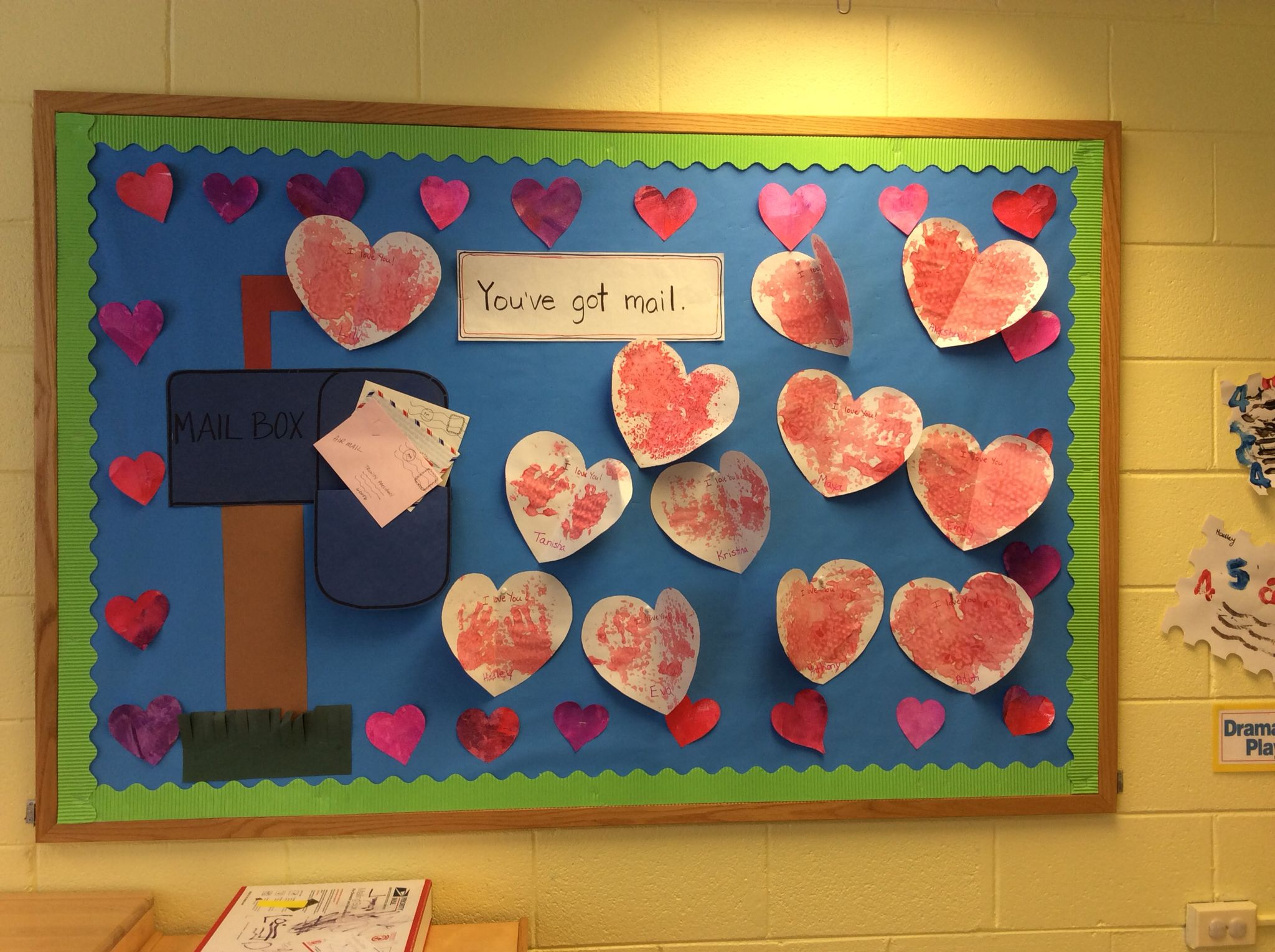 Post office and valentines day bulletin board we do post
