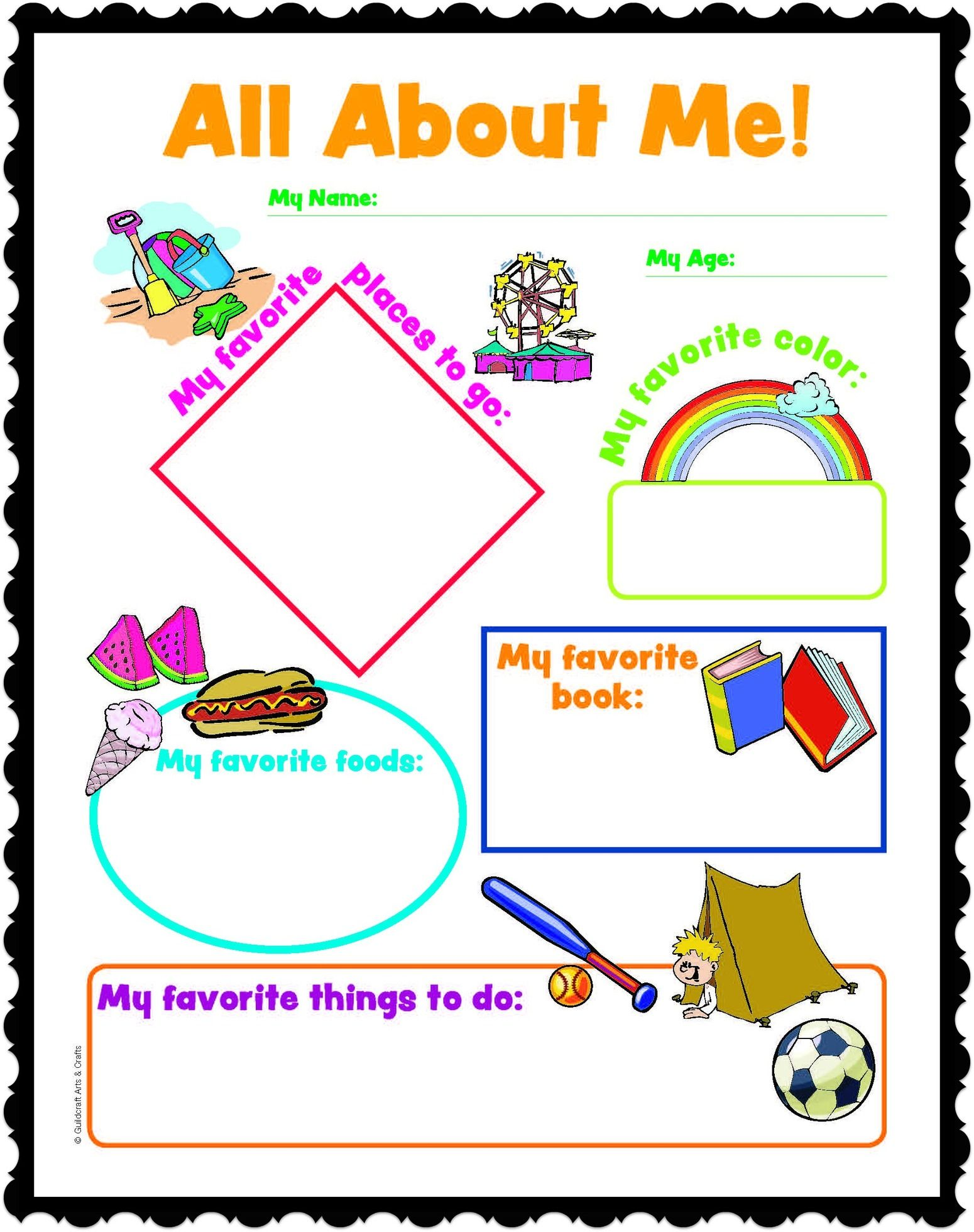 All About Me Infant Questionaire