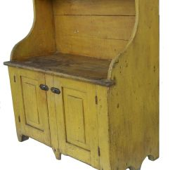 Country Primitive Sofa Tables Furniture Design Pa Bucket Bench With Wonderful Yellow Paint Perfect