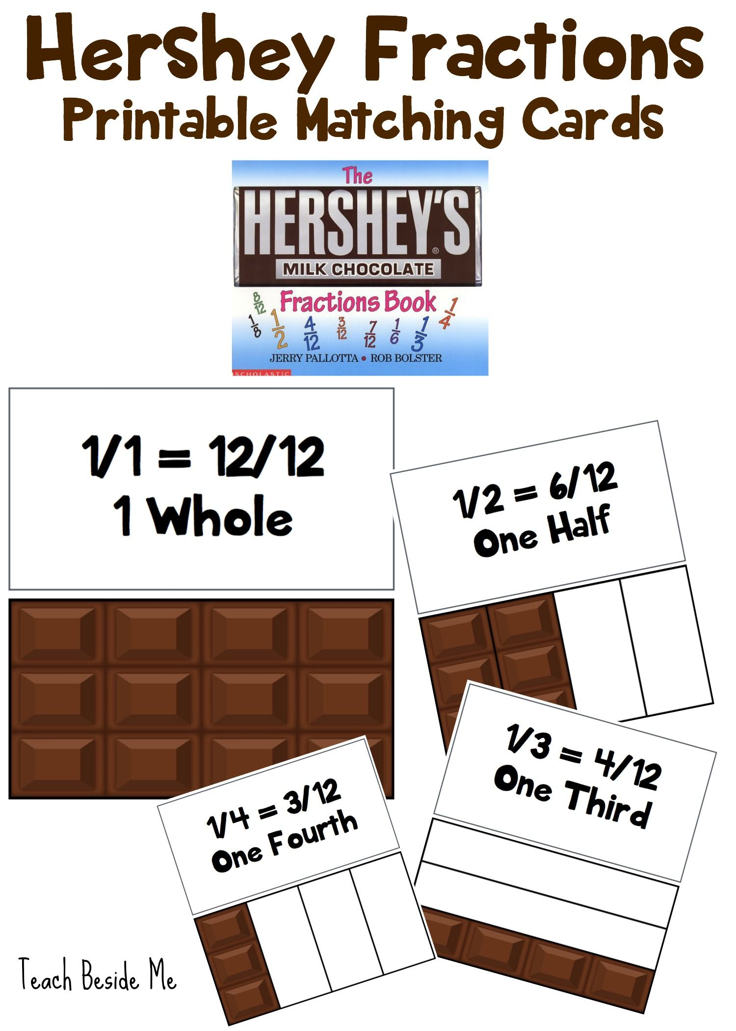 Hershey Fractions Printable Cards