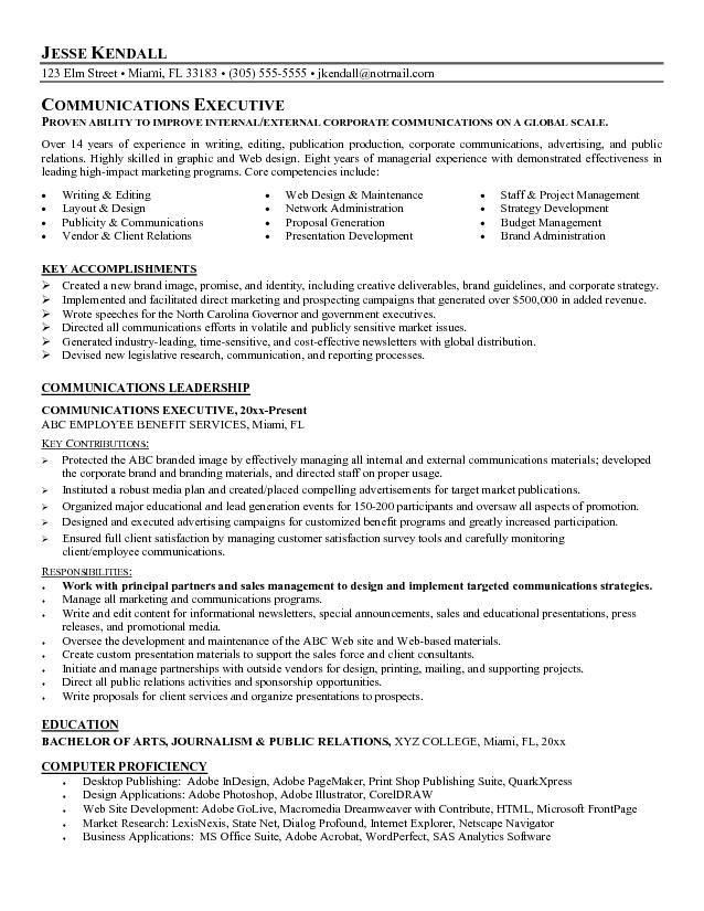 Communications Resume Example Topresume Info