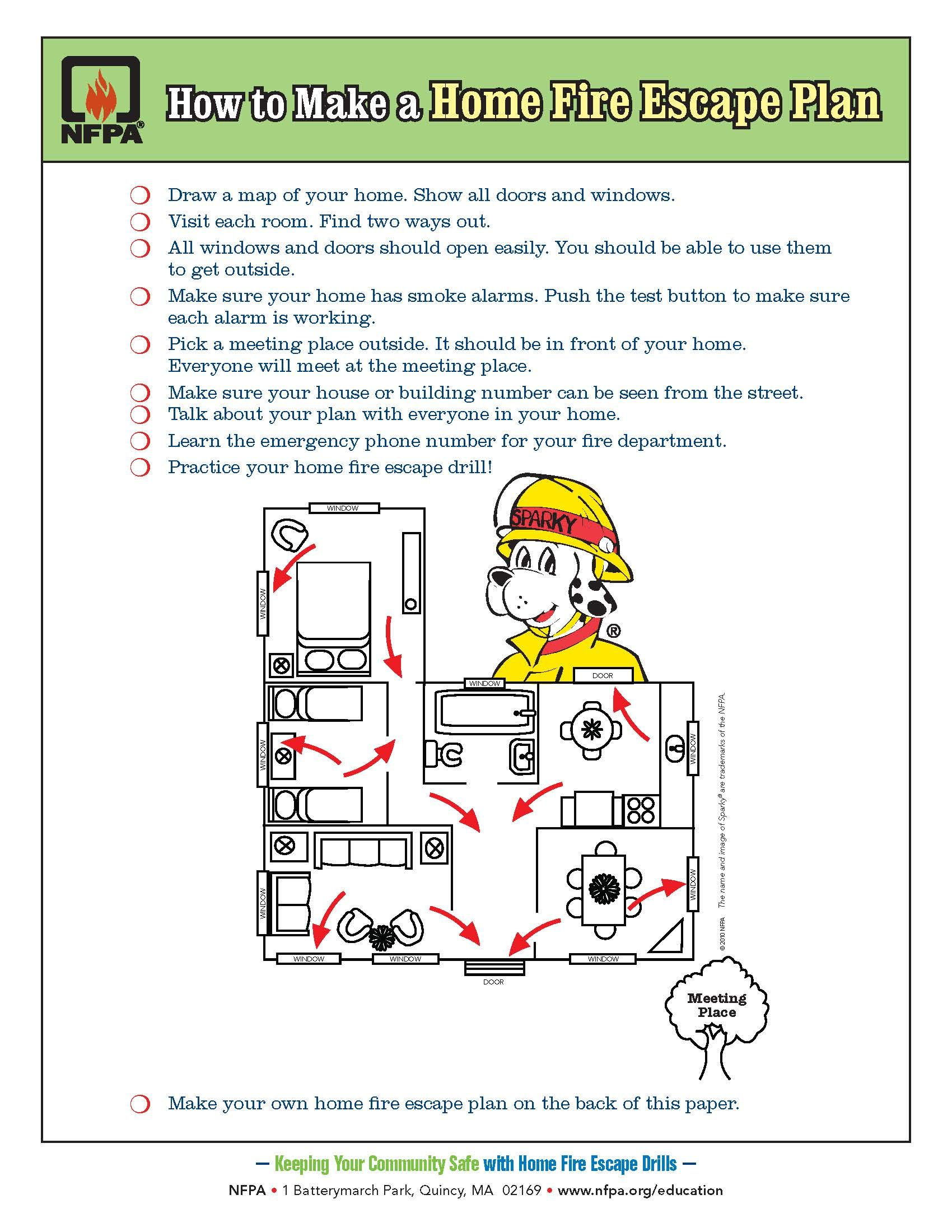 Draw A Home Fire Escape Plan Your Kids Practice Fire