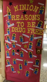 """A minion reasons to be drug free"" Red Ribbon Door ..."
