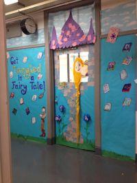 Classroom door. Rapunzel tangled