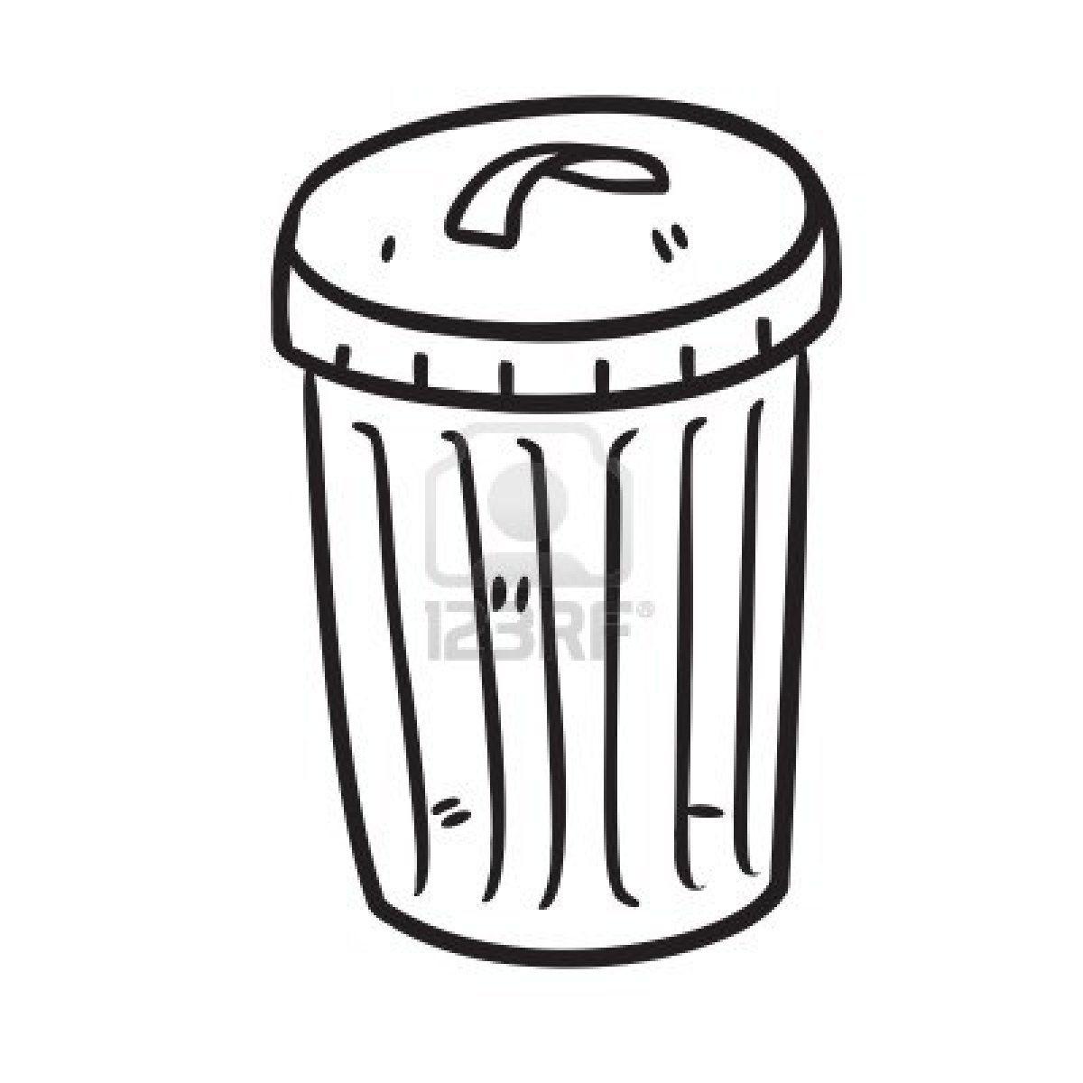 Trash Bin Stock Photo