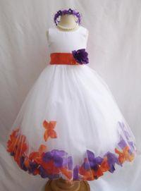 Wallao.com - Flower Girl Dress - Rose Petal Dress ...