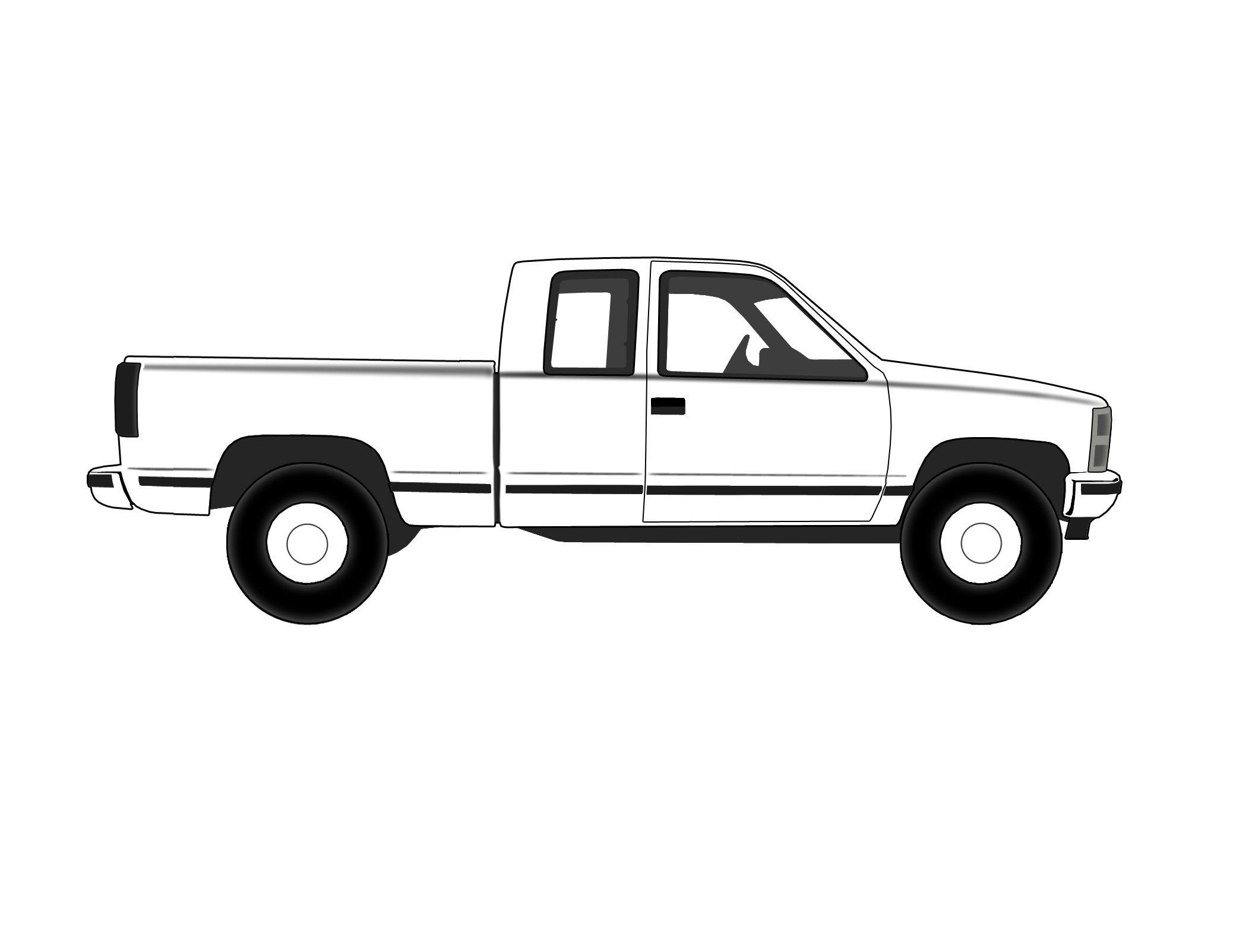 Truck Outline Clip Art