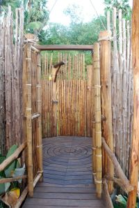 A rustic outdoor shower made from bamboo   Outdoor Showers ...