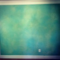 turquoise, green, blue, and grey faux paintings - Google ...