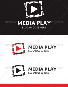 Media play logo also logos plays and templates rh pinterest