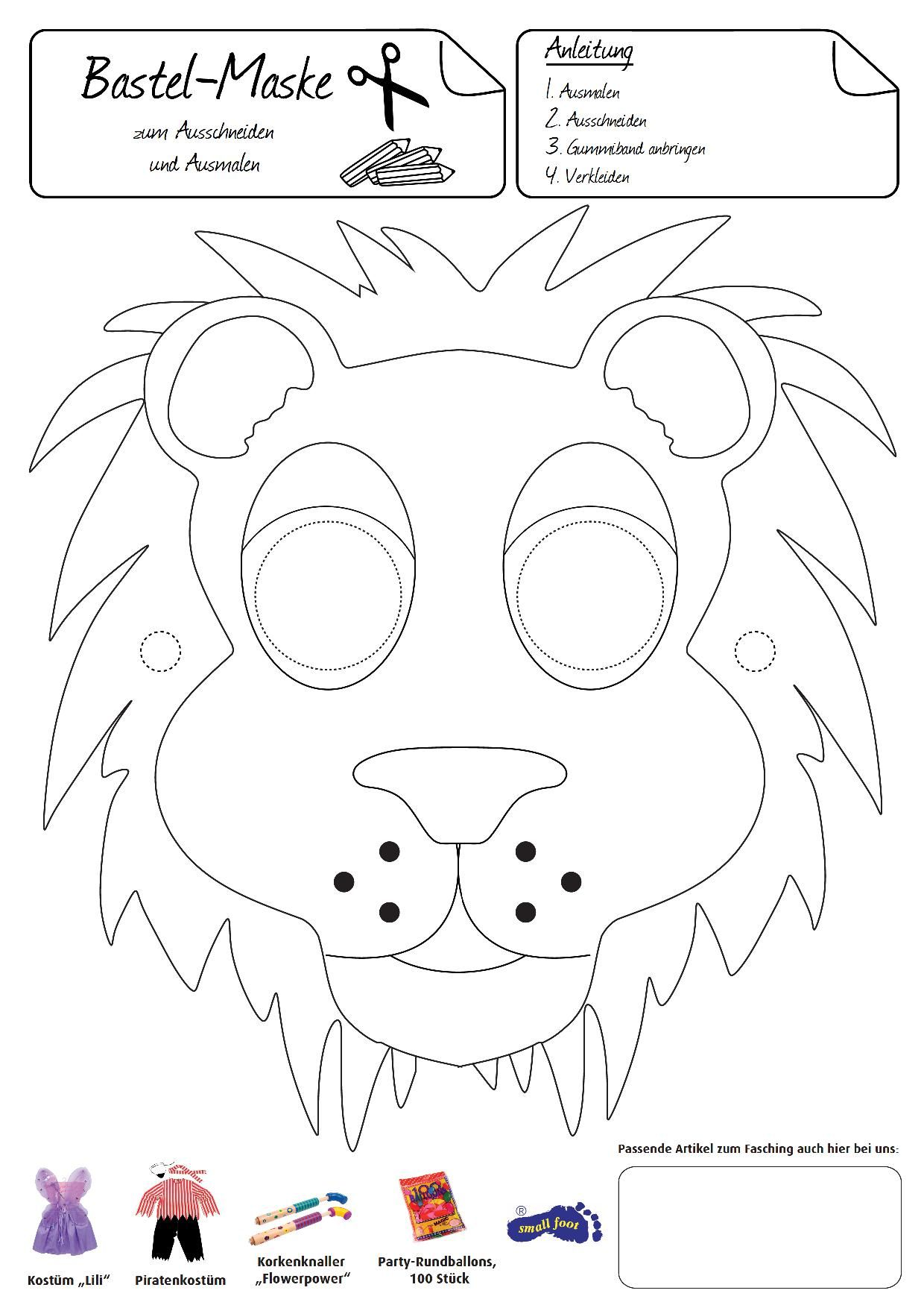 Löwen-Maske. Diese Maske macht Sie stolz, wie ein Löwe
