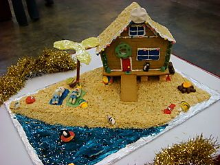 A Gingerbread Beach House I Am Going To Try That This Year