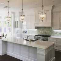 Like the lighting. That Hamptons style. Kitchen by ...