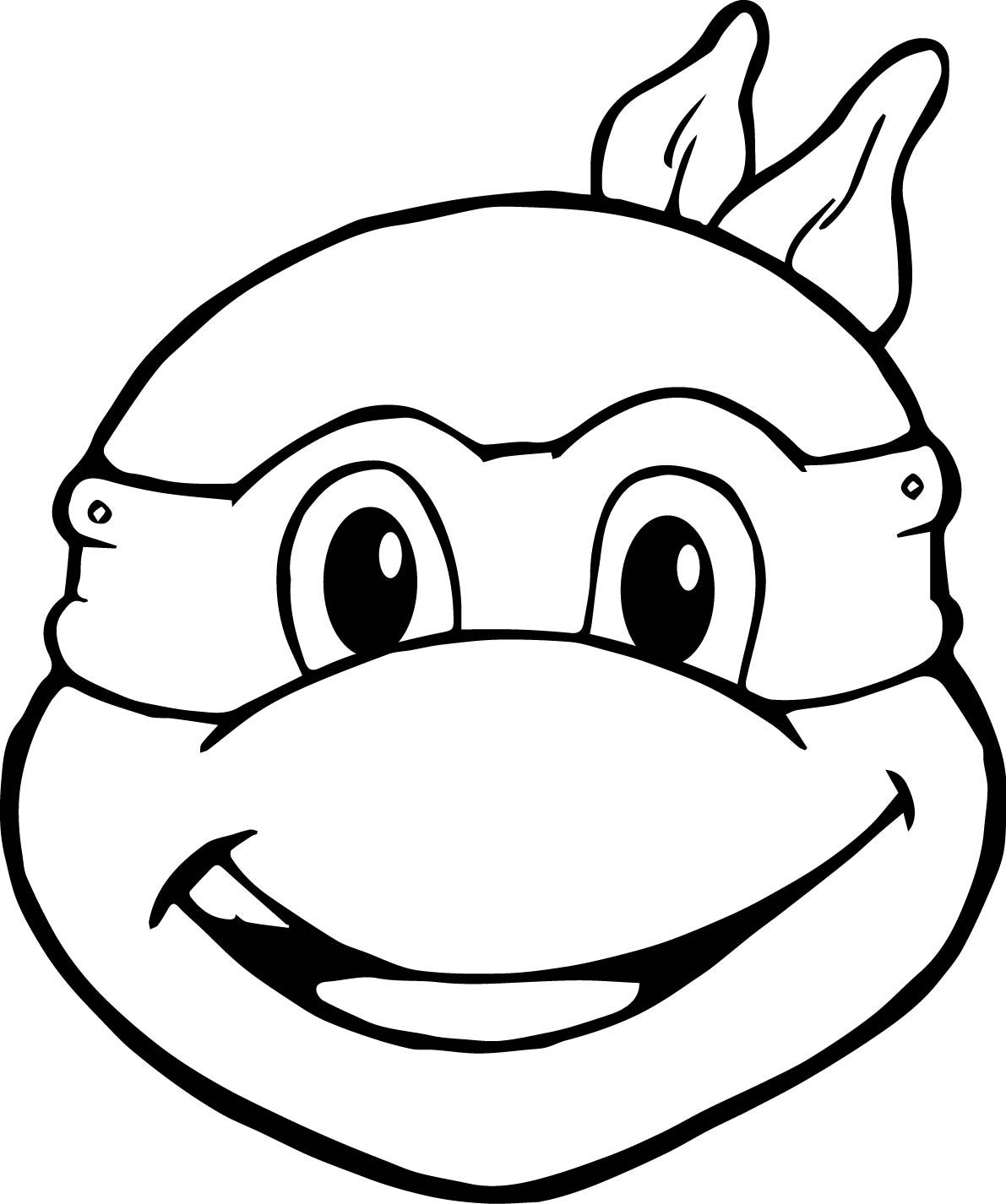 Ninja Turtles Coloring Pages Head To Head