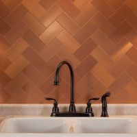 "Picture of Aspect 3""x6"" Brushed Copper Short Grain Metal ..."