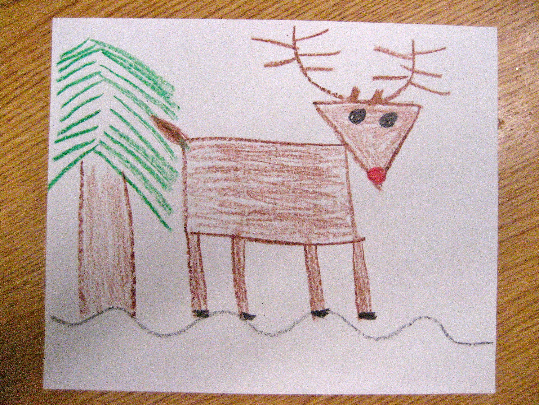 Reindeer Guided Drawing