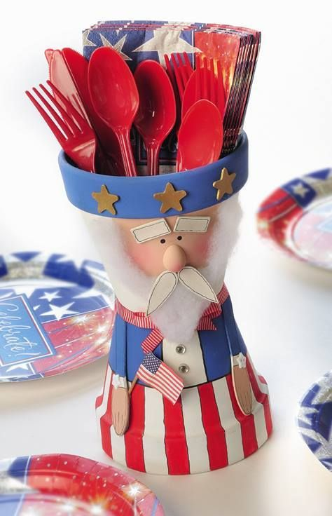 Fourth Of July Uncle Sam Clay Pot Independence Day Ideas
