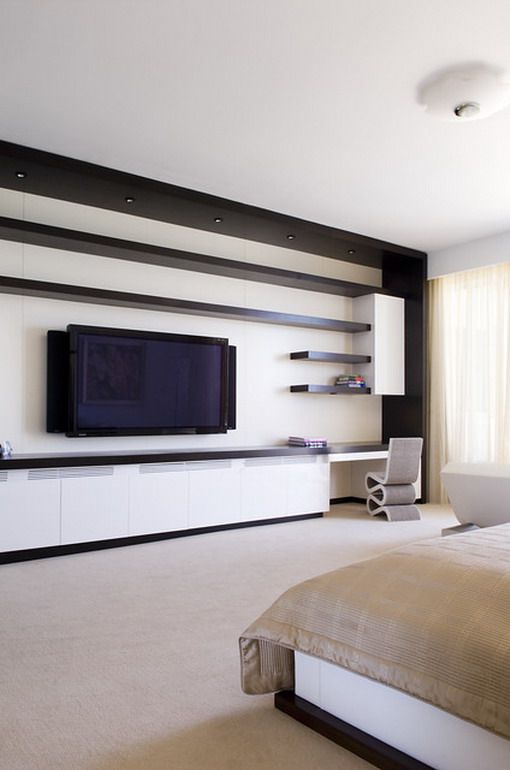 Contemporary Bedroom Wall Units Modern Tv Unit In Master Designs