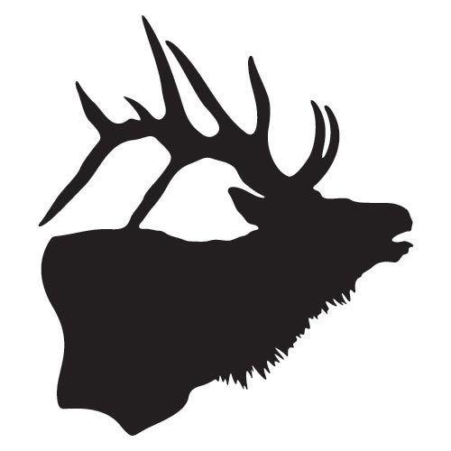 Doe Deer Head Silhouette Printable