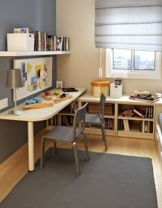 Tiny kids room design with small study and floorspace sergi mengot also solution  pinterest rooms rh