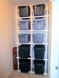 PVC Pipe Shelves for the DIY-er in all of us. | channeling ...
