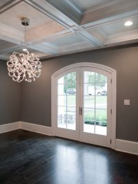 dark floors, gray walls, white trim. And love the light ...