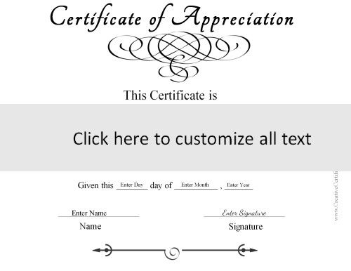 template to create a generic certificate in black and