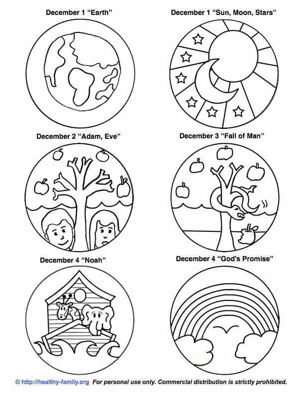 26 free clip art Jesse tree advent patterns- use for