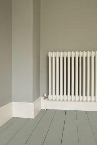 murs: Farrow & Ball Lamp Room Gray parquet: Pigeon