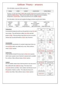 Collision Theory worksheet   Collision theory, Worksheets ...
