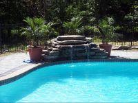 Inground pool waterfalls | Backyard Ideas | Pinterest ...