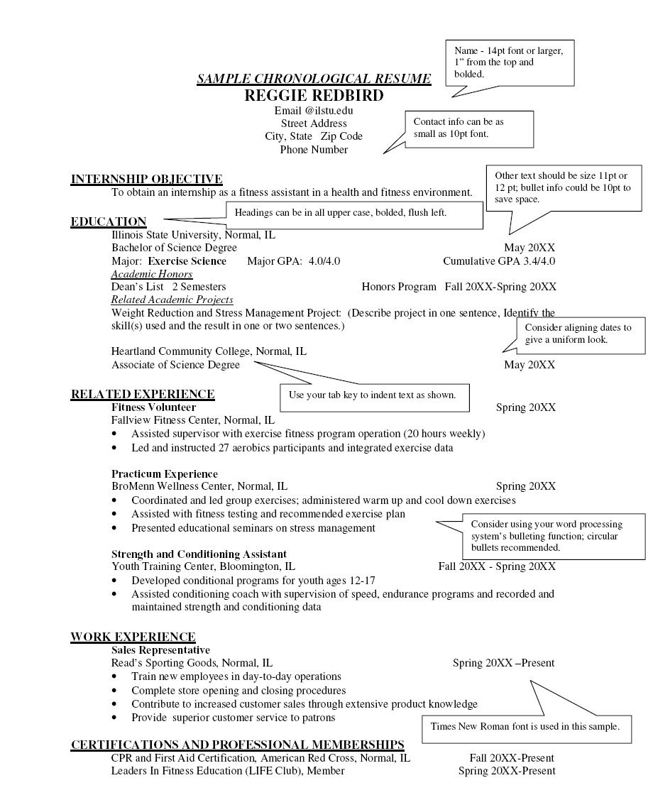 Free Chronological Resume Template Jobresumesample Com