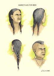 wampanoag - hair styles men