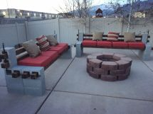 Diy Built Outdoor Benches And Firepit Cozy