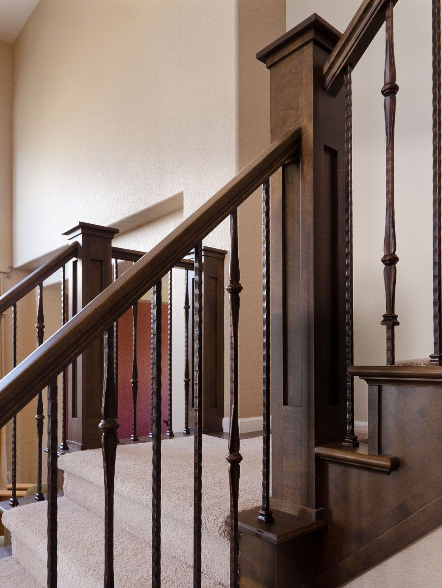 stairway wrought iron balusters