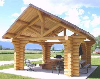 Log  Timber Trusses by Montana Timber Structures  Logs I