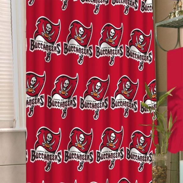 Nfl Tampa Bay Buccaneers Shower Curtain Football Bathroom