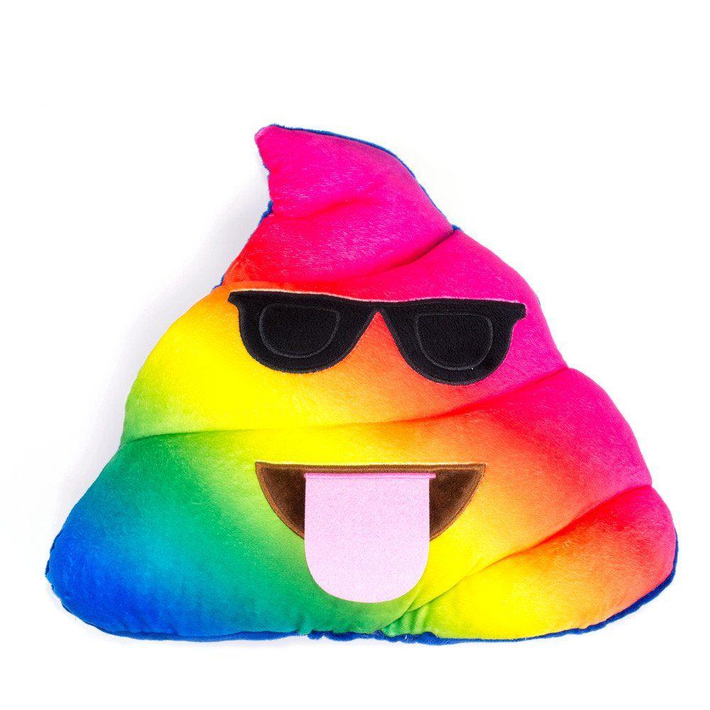 Rainbow Poo Emoji Pillow  Rainbows Pillows and Emojis