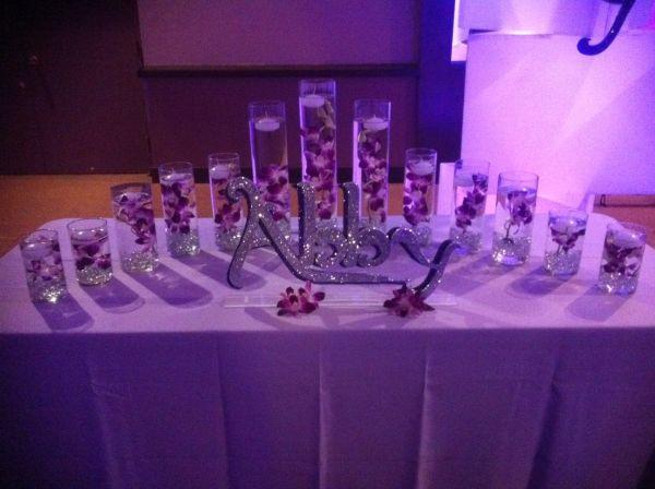 Bat Mitzvah Candle Lighting Display Party Perfect Boca