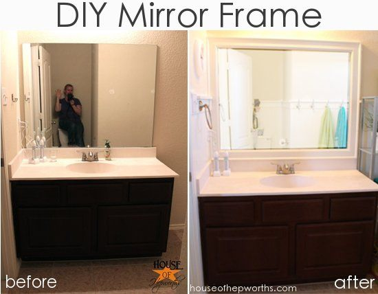how to diy a frame for a mirror. tutorial at houseofhepworths
