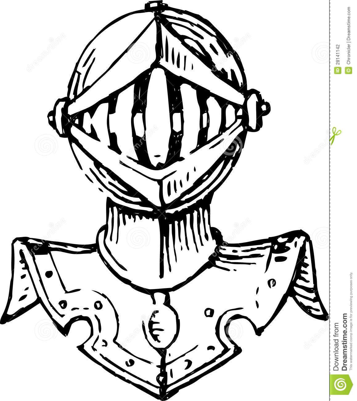 Head Of A Knight In Armor Stock Photography