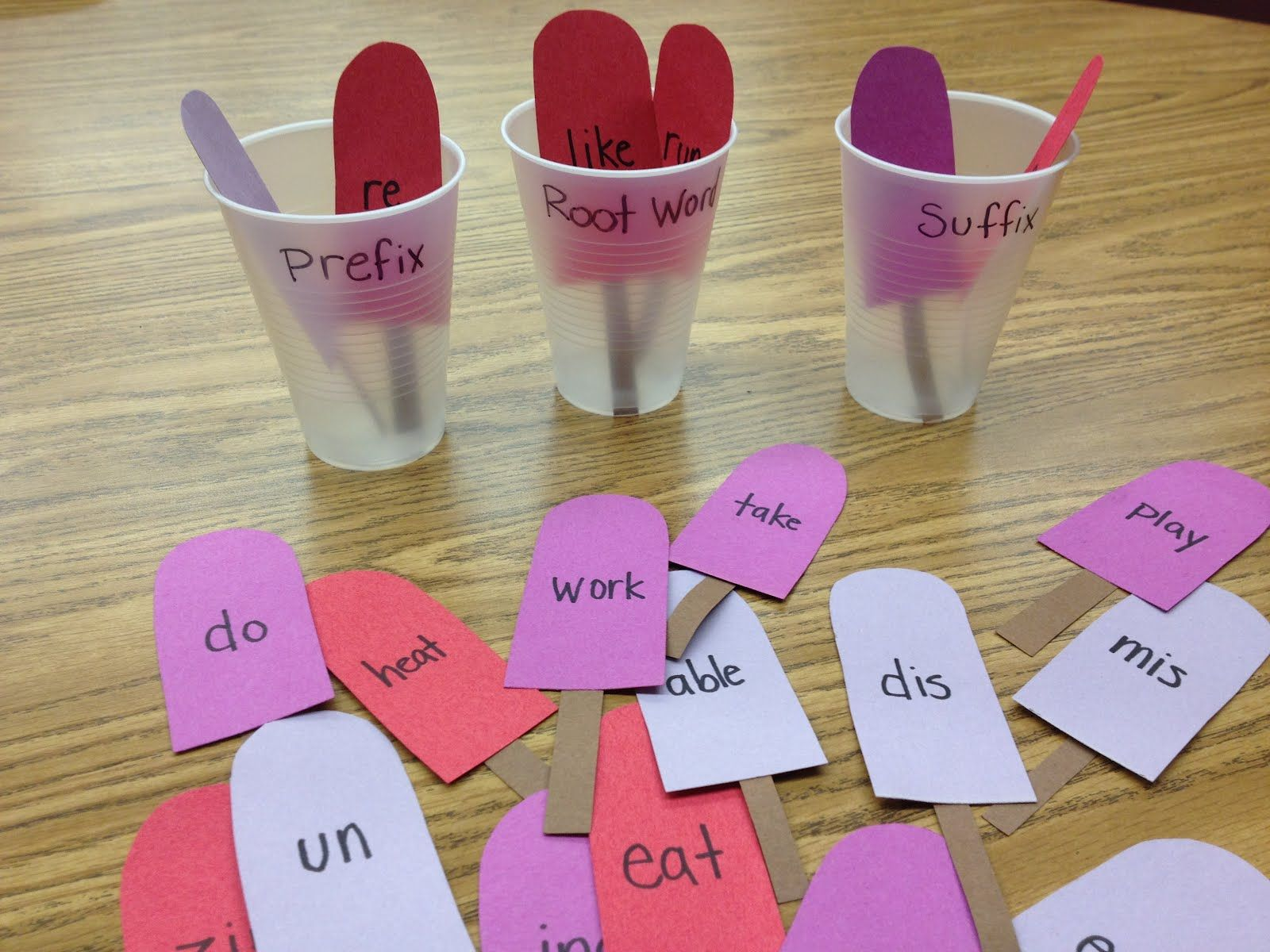 This Activity Can Be Useful In A First Grade Class Room On The Popsicle Sticks There Is A Piece