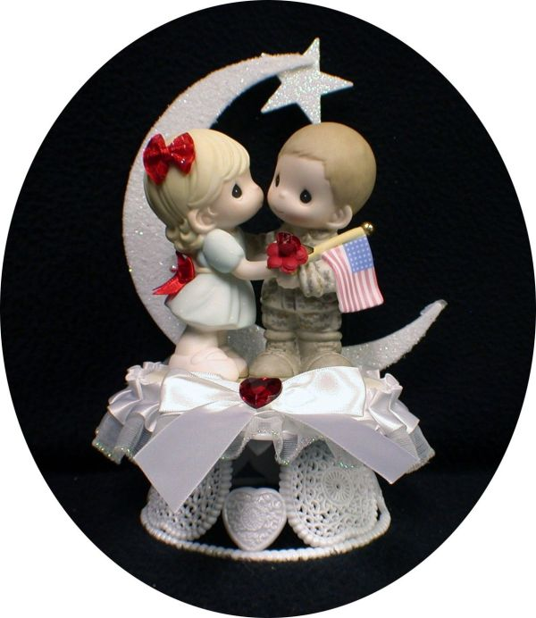 Army Navy Marine Wedding Cake Topper Precious Moment Hero