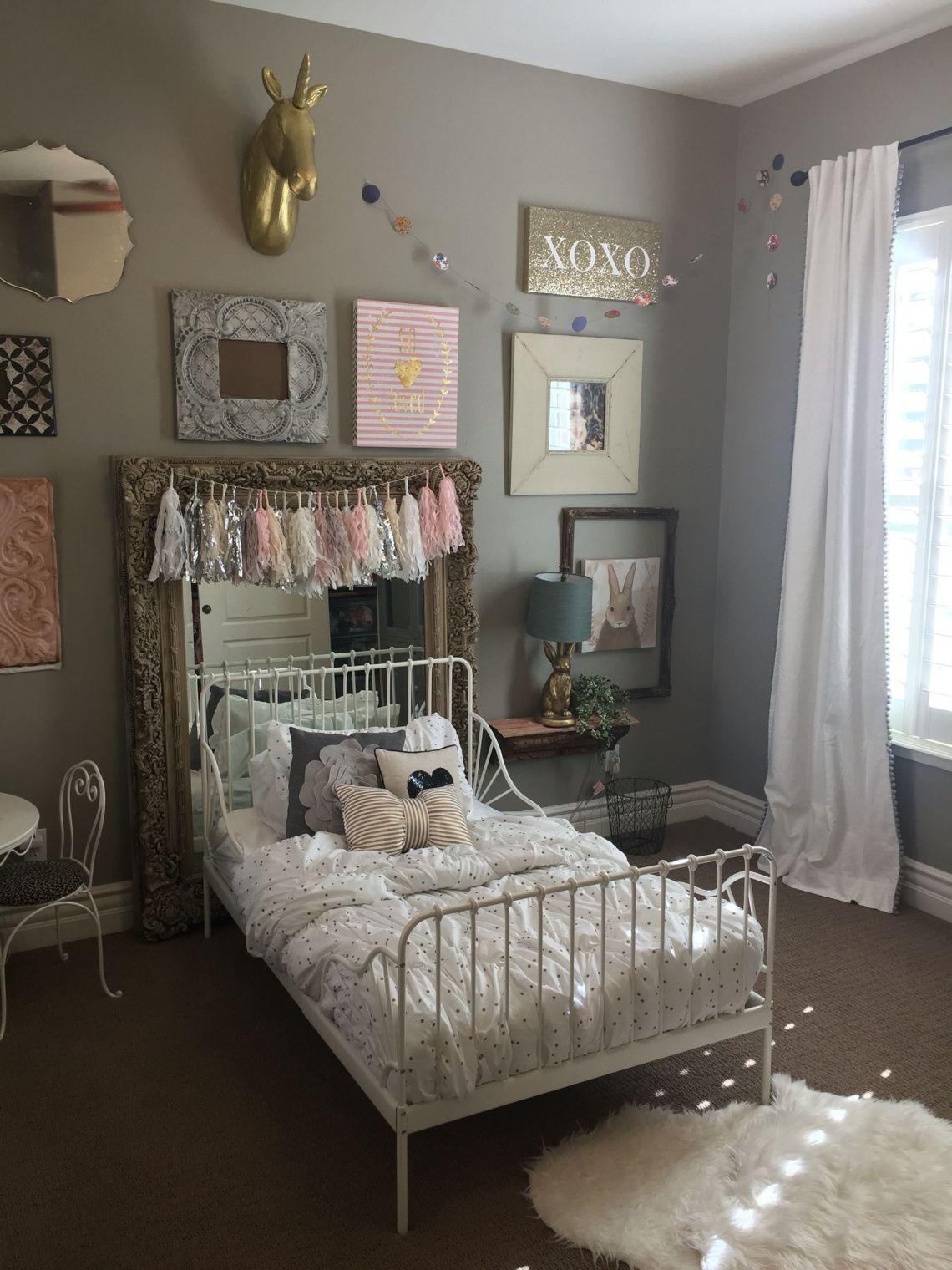 My little girls CUTE bedroom! I love her cute @ikea ...